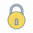 basic elements, lock, locked, secure, security icon