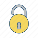 acess, open, unlock icon