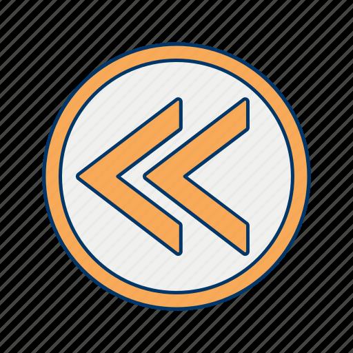 arrow, basic elements, prev, previous, rewind icon