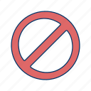 alert, basic elements, forbidden, stop, warning icon