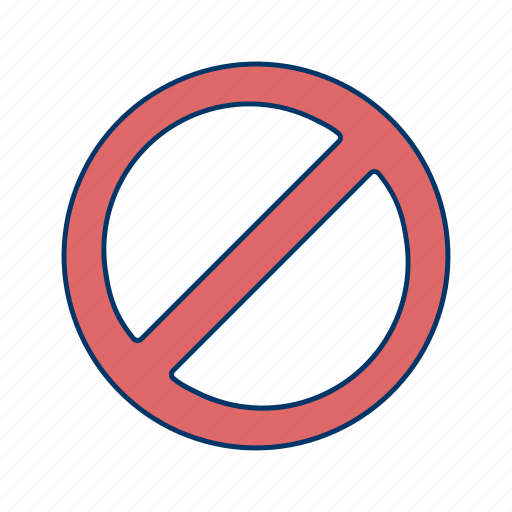 alert, basic elements, forbidden, stop, warning icon