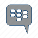 bbm, blackberry, conversation icon