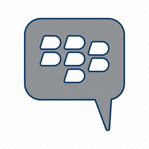 bbm, blackberry, conversation icon