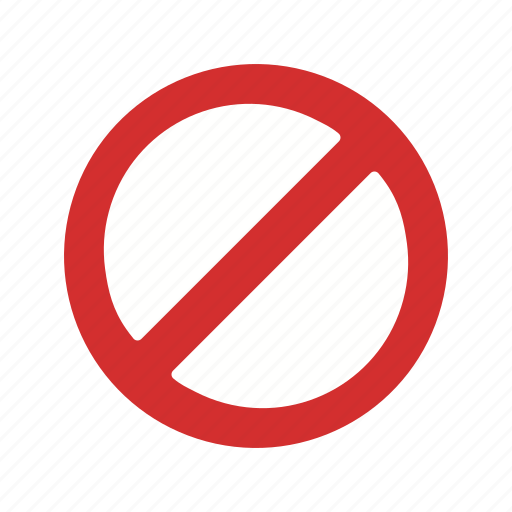 forbidden, stop, warning icon