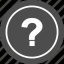 faq, info, mark, question, sign icon