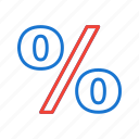 discount, offer, percent, percentage, sale icon