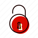 access, open, padlock, safety, unlock icon