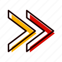 arrows, forward, move, next, right icon