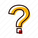 faq, info, mark, question, sign icon
