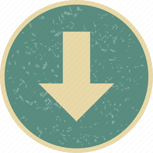 arrow, basic elements, direction, down, download icon