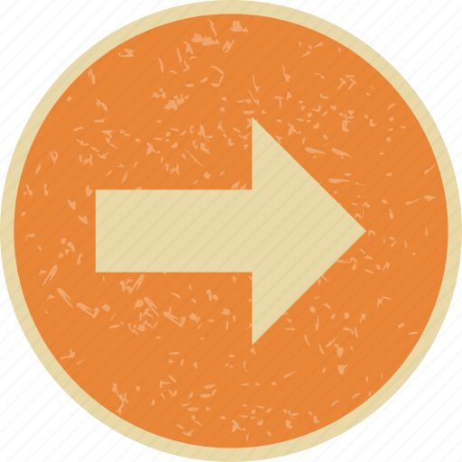 arrow, basic elements, direction, location, right icon
