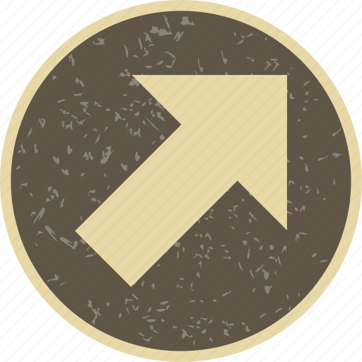arrow, basic elements, direction, navigation, right up icon