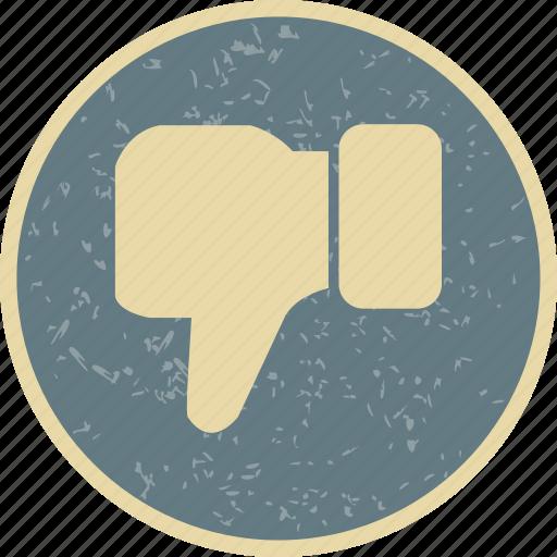 dislike, hand, thumbs down icon