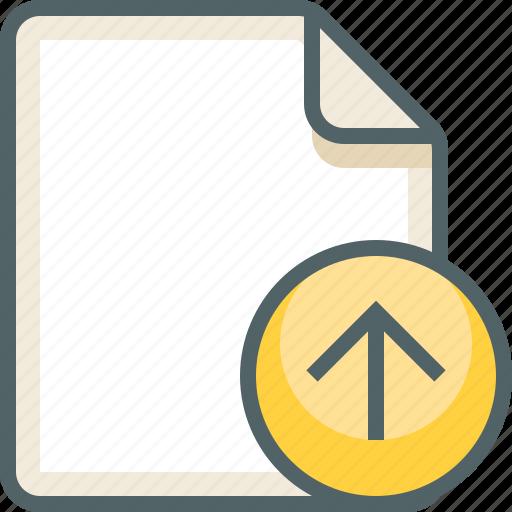 arrow, file, up icon