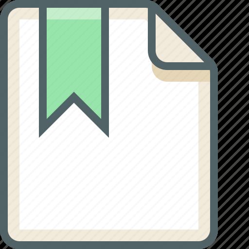 bookmark, file icon