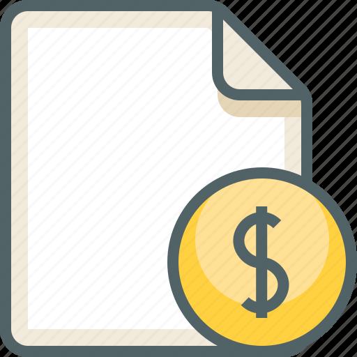 dollar, file icon