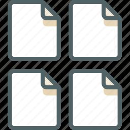 file, four icon
