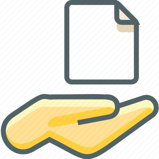 file, hand icon