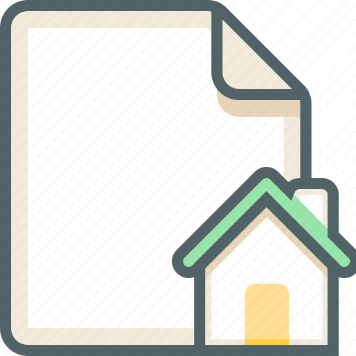 file, house icon