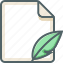 file, leaf icon