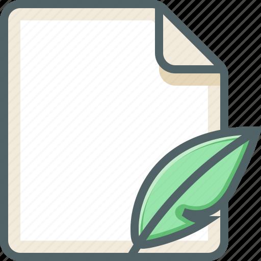 file, leaf icon