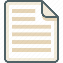 file, list, menu icon