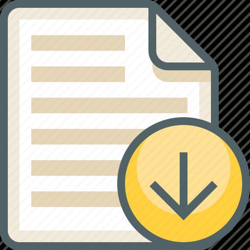 arrow, down, file, list, menu icon
