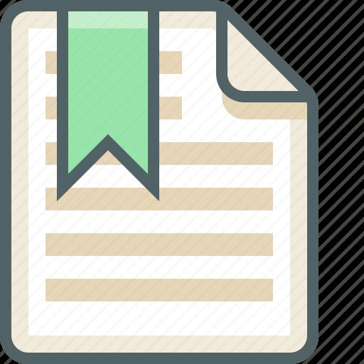 bookmark, file, list, menu icon