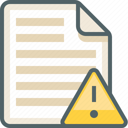caution, file, list, menu icon