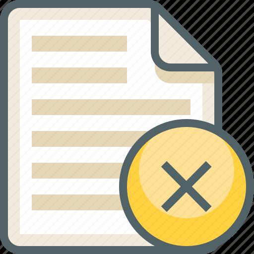 delete, file, list, menu icon