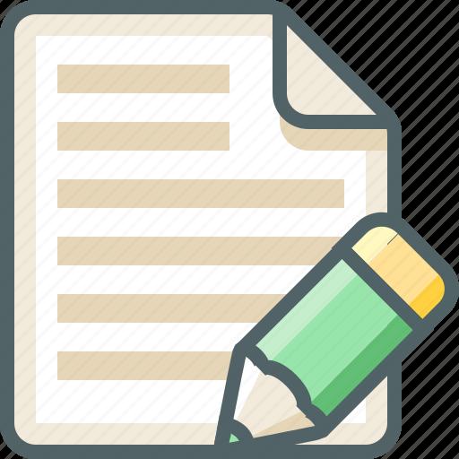 file, list, menu, pencil icon