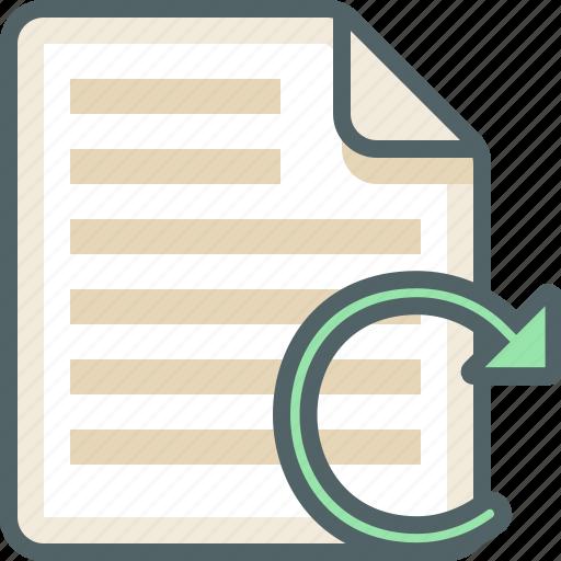 file, list, menu, reload icon