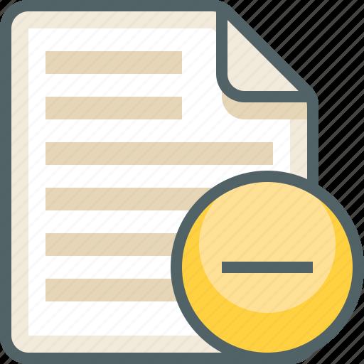 file, list, menu, remove icon