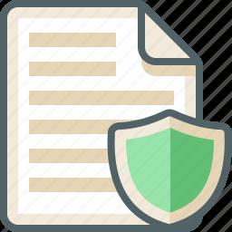 file, list, menu, shield icon
