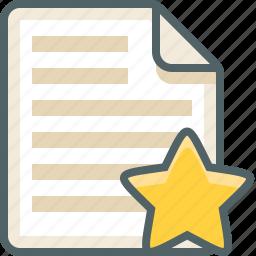 file, list, menu, star icon