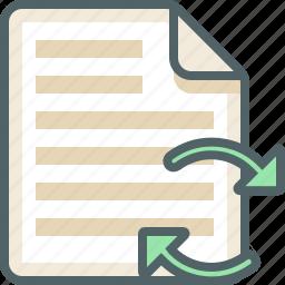 file, list, menu, sync icon