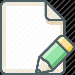 file, pencil icon