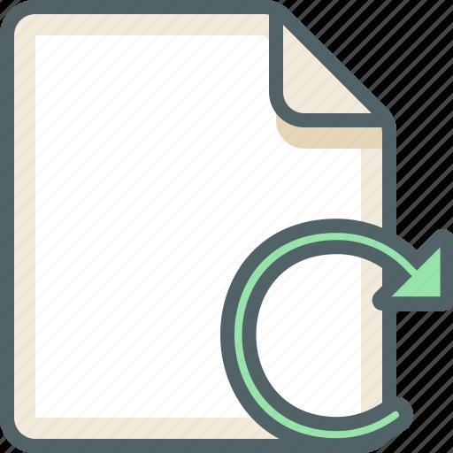 file, reload icon
