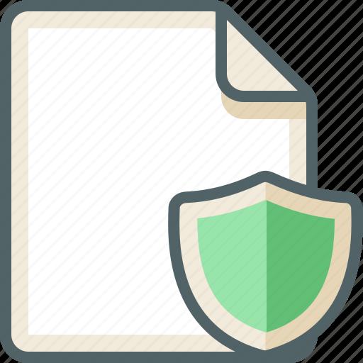 file, shield icon