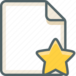 file, star icon