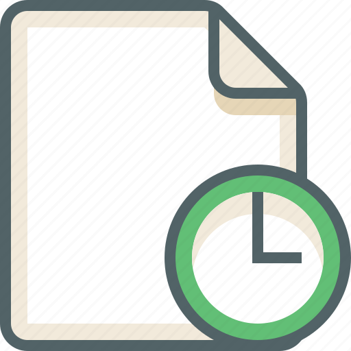 file, timer icon
