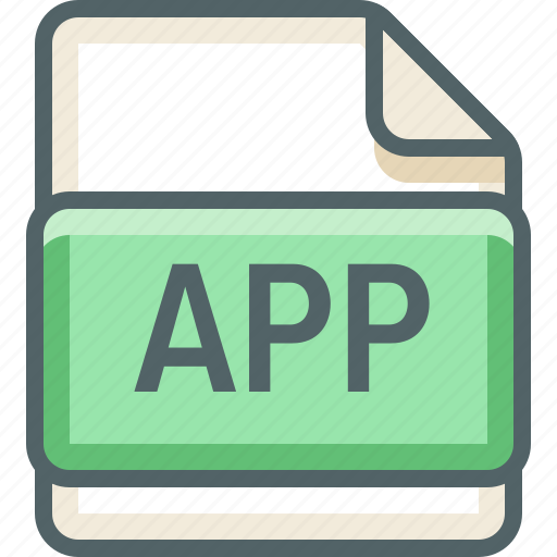 app, basic, extension, file, format, type icon