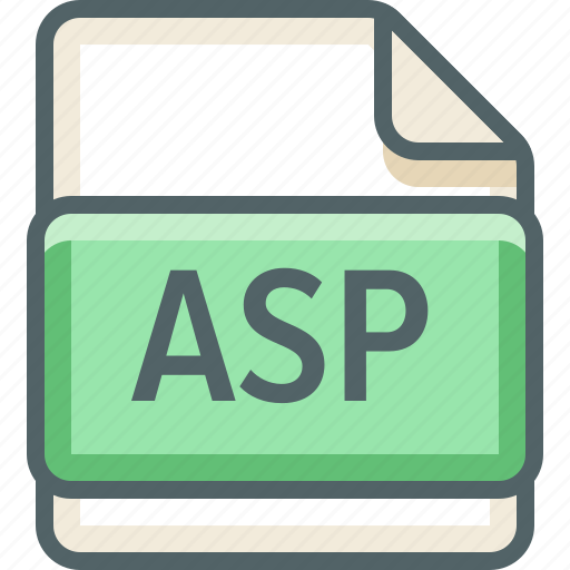 asp, basic, extension, file, format, type icon