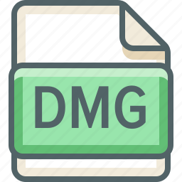 basic, dmg, extension, file, format, type icon