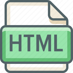 basic, data, document, extension, file, format, html icon