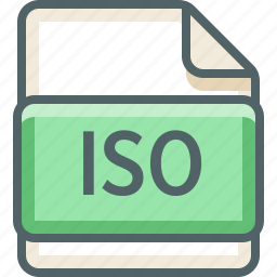 basic, data, extension, file, format, iso, type icon