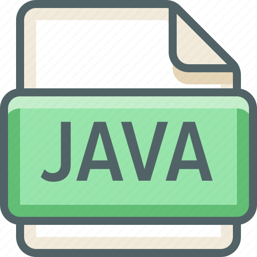 basic, data, extension, file, format, java, type icon