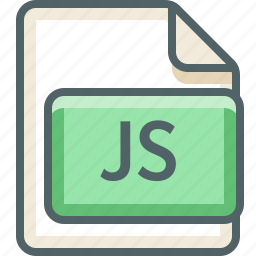 basic, data, extension, file, format, js, type icon