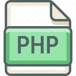 basic, data, extension, file, format, php, type icon
