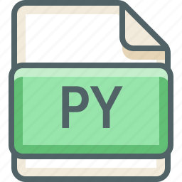 basic, data, extension, file, format, py, type icon